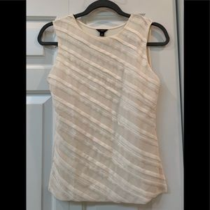 Ann Taylor  sequin -striped sleeveless blouse